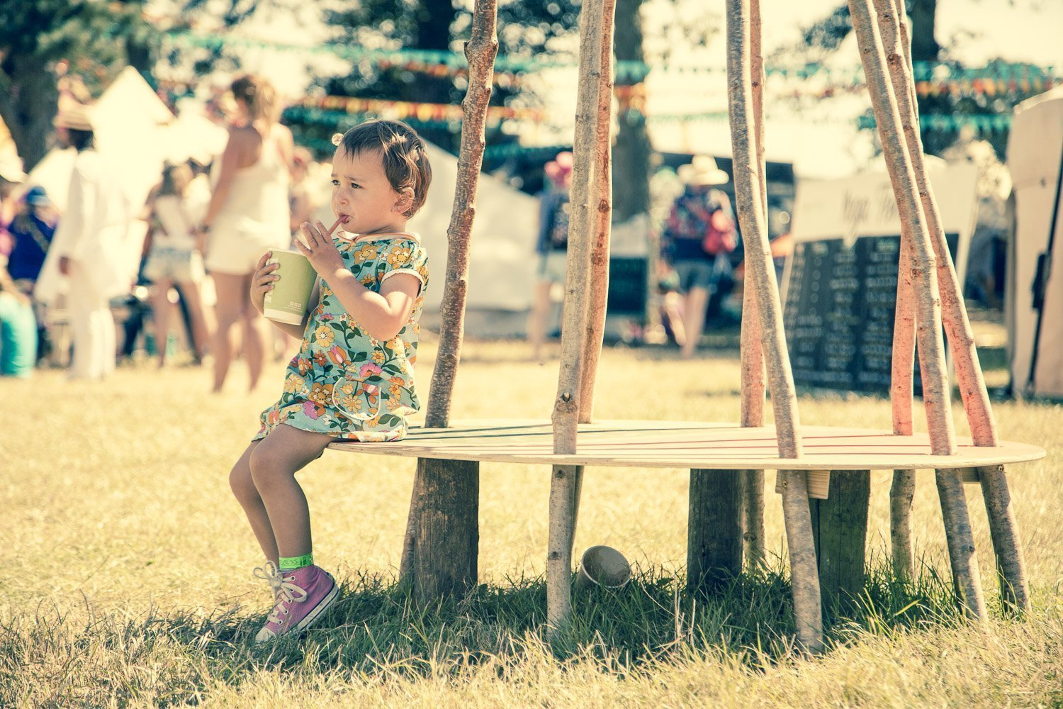 camp bestival 2015 kid drinking