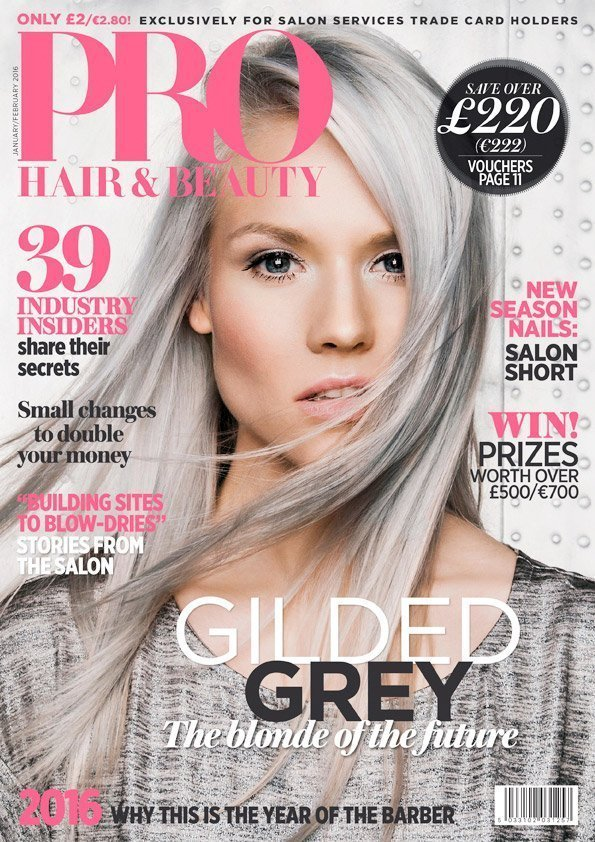 pro hair and beauty magazine cover simon clemenger